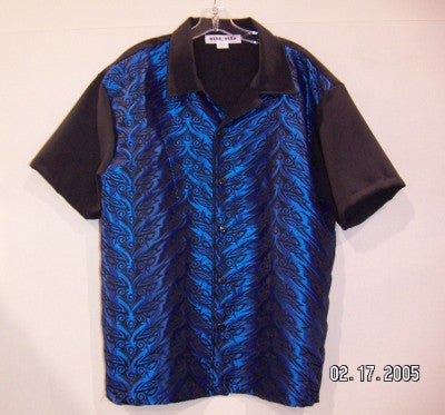 Tribal-Blue Contrast Shirt