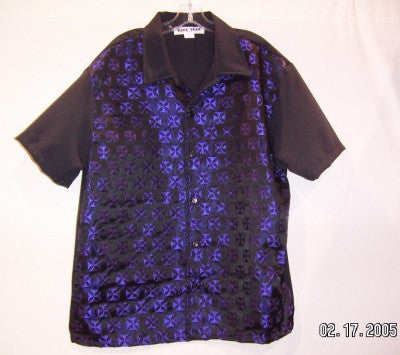 Iron Cross-Purple Contrast Shirt