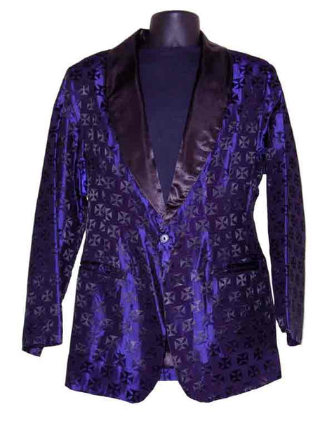 Iron Cross-Purple Smoking Jacket