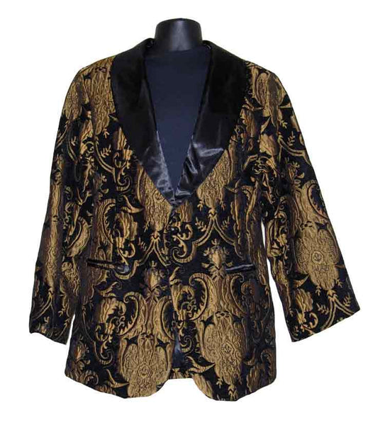 Drape-Black Paisley Smoking Jacket