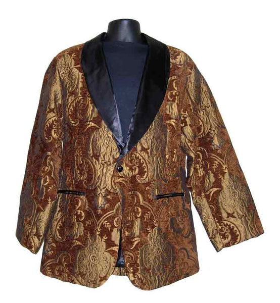 Drape-Brown Paisley Smoking Jacket