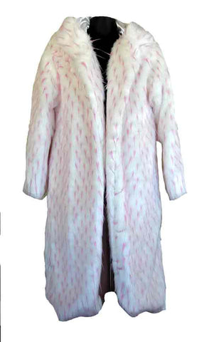 Pink-Tip White Feather Pimp Coat