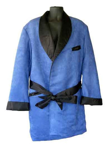 Suede-Blue Suede Hef Smoking Jacket