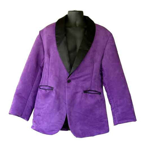 Suede-Faux Suede Purple Smoking Jacket