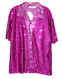 Sequin-Fuchsia Shirt