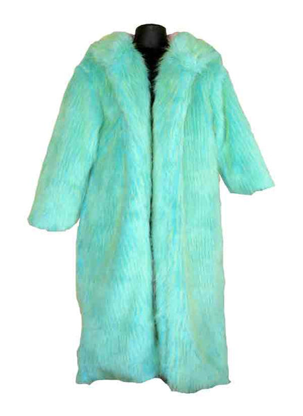 Fur-Blue With Green Tip