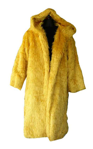 Fur, Gold Pimp Coat