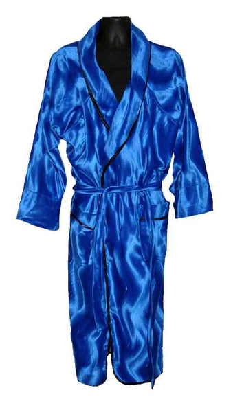 Fur-Solid Blue Robe