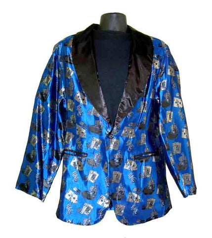 Poker-Blue Smoking Jacket