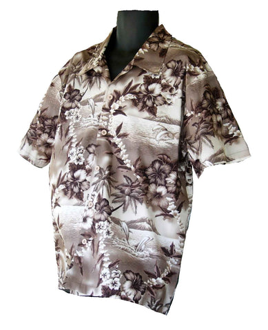 Hawaiian Grey Floral