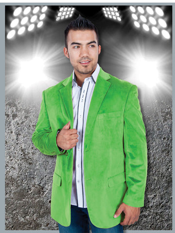 Suit - Lime Green Velvet