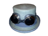 Grey Steam Punk Hat w/Goggles