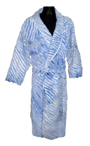 Zebra-Heavy Light Blue Robe