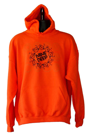 Hoodie Orange Bicycle