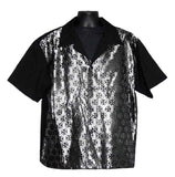 Iron Cross-Silver Contrast Shirt