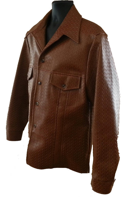 Brown Basket Weave Leisure Jacket