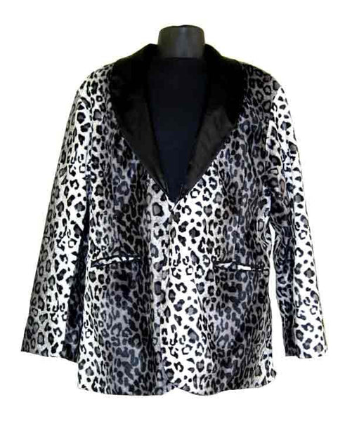 Leopard-White Smoking Jacket