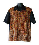 Leopard-Orange Fur Contrast Shirt