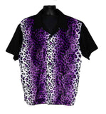 Leopard-Purple Fur Contrast Shirt