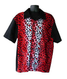 Leopard-Red Fur Contrast Shirt