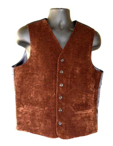 Brown Micro Corduroy Vest