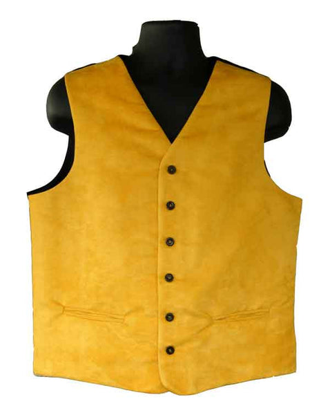 Yellow Micro Suede Vest