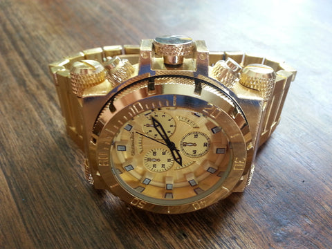 Watch - Diver Style - Gold with Gold
