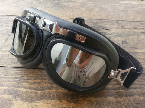 Motorcycle Goggle Black with Black