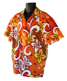 Orange /Brown Hawaiian Shirt