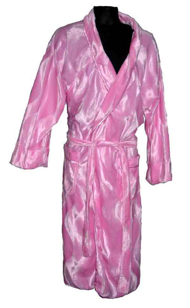 Fur-Solid Baby Pink Robe
