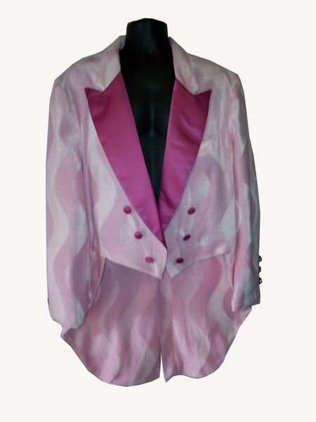 Pink Fur Retro Tux With Tails