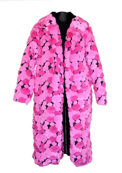 Poka-Hot Pink Pimp Coat