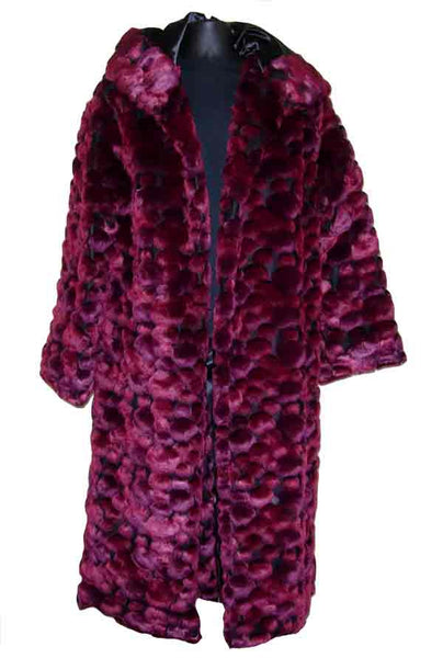 Poka-Burgundy Pimp Coat