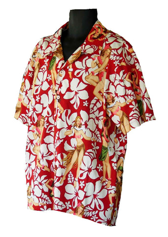 Hawaiian Red Floral