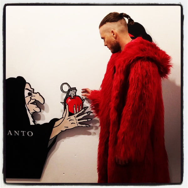 Red Fur Pimp Coat