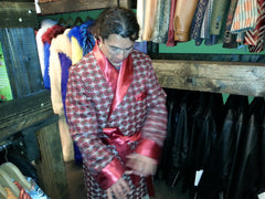 "The ""Modern"" Red Hef Smoking Robe"