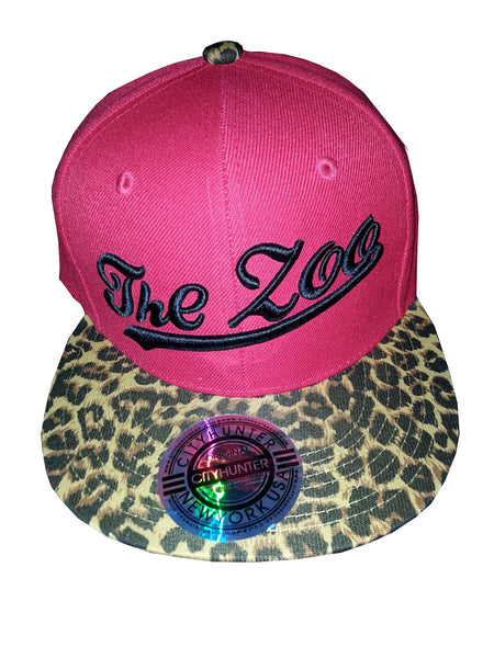 Snapback Red with Leopard