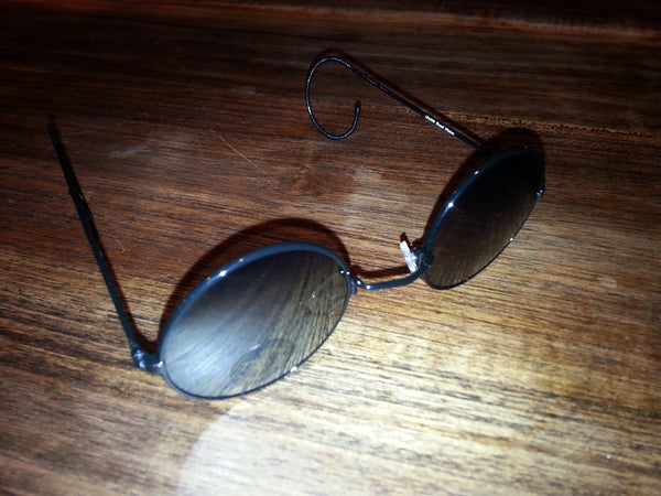 Lennon Glasses - Black with Smoked Lense