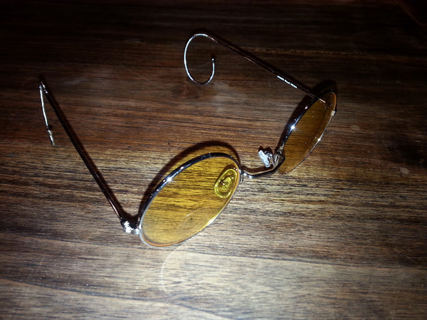 Lennon Glasses - Silver with Yellow lense