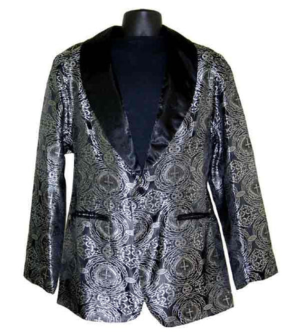 Sacred Heart-Silver Smoking Jacket