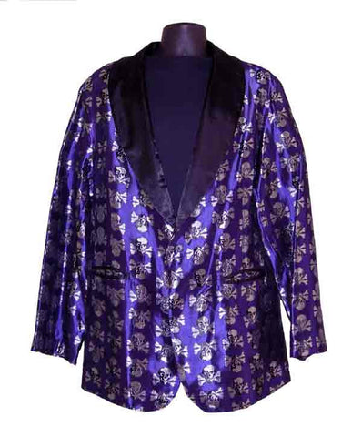 Skulls-Pruple Smoking Jacket