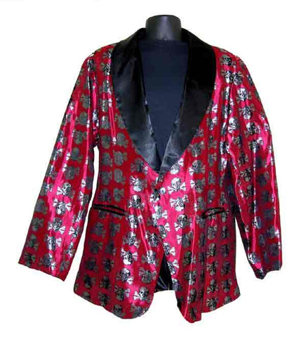 Skulls-Red Smoking Jacket
