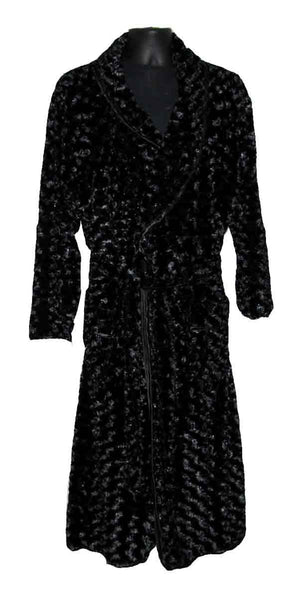 Rosebud-Black Fur Robe