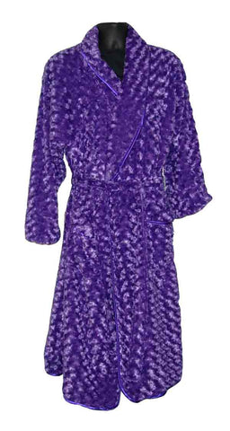Rosebud-Purple Fur Robe