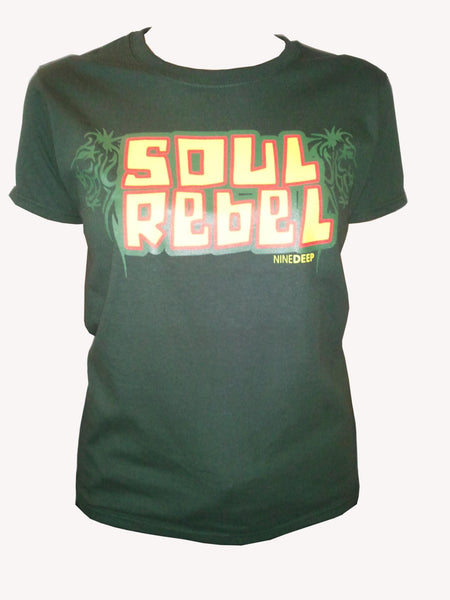 T-Shirt Soul Rebel Army Green Womens