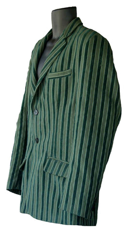 Suit Green Velour Stripe