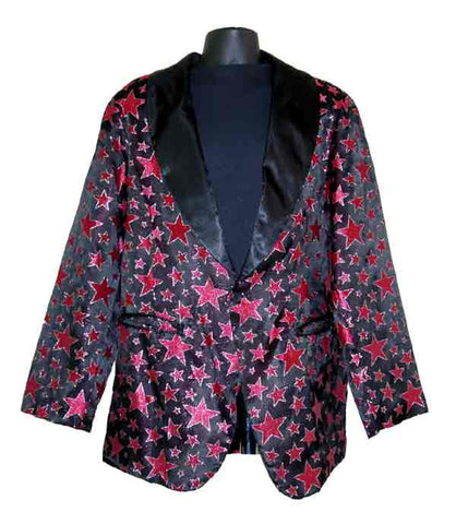 Stars-Red Smoking Jacket