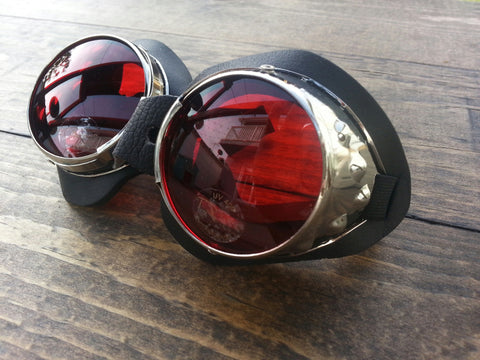 Steam Punk Goggles Red