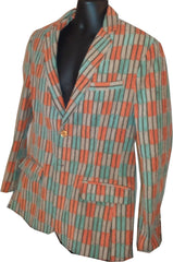 Suit Orange/Light Blue check