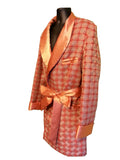"The ""Modern"" Orange Hef Smoking Robe"